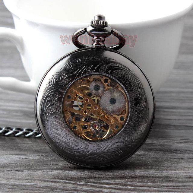Steampunk Stainless Steel Mechanical pocket watch
