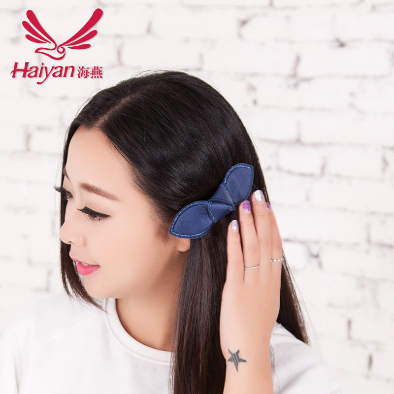 2015 Adult Barrettes Fashion Women Cotton Solid Accessories Limited Hot Sale Hair Clip Korean Rabbit Ears Hairpin Store(China (Mainland))