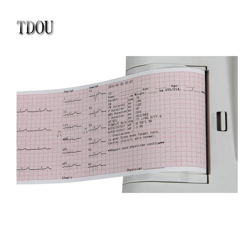 TDOU CE Marked Digital 12 Leads 3/6 Channel ECG Machine ECG600G Free shipping(China (Mainland))