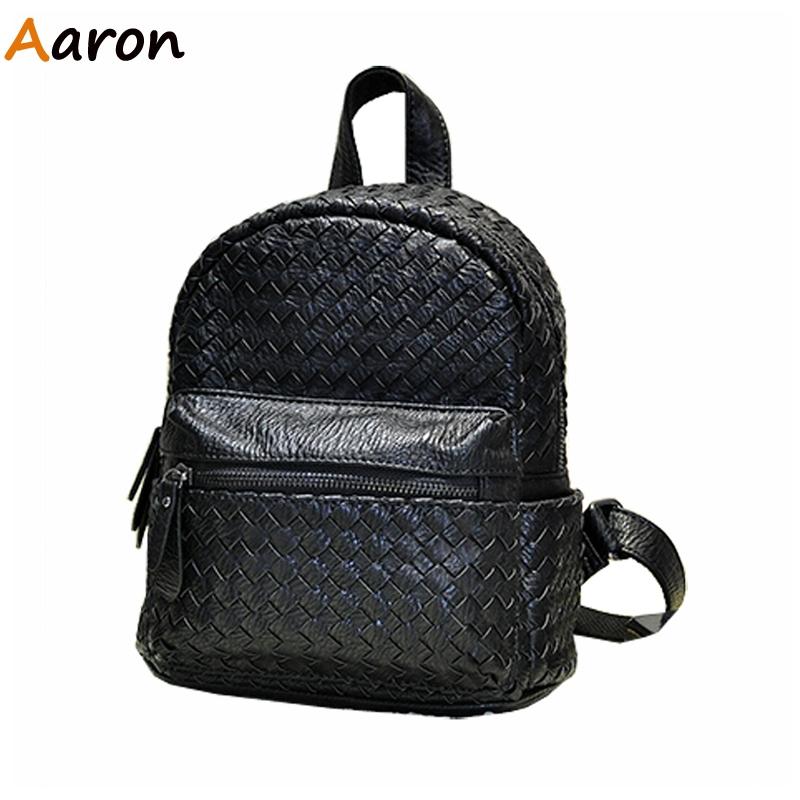 AARON - Newest Korean Retro Weave Handmade Leather Women's Backpacks,Fashion Fresh All Match Shoulder Bolsa Feminine Travelling