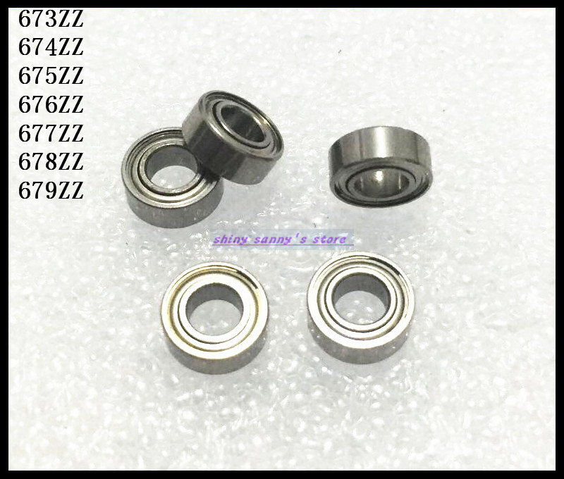 10pcs/Lot 679ZZ 679 ZZ 9x14x4.5mm Thin Wall Deep Groove Ball Bearing Mini Ball Bearing Miniature Bearing Brand New