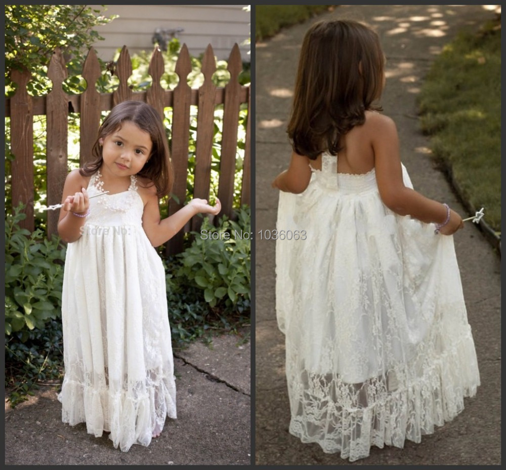 Online buy wholesale flower girl dress for beach wedding for Flower girl dress for beach wedding
