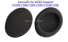 Ear pads(earcups) replacement cover for KOSS CS100 CS80 CS95 CS90 CS100-USB headphones(headset earmuffes) High quality earcap