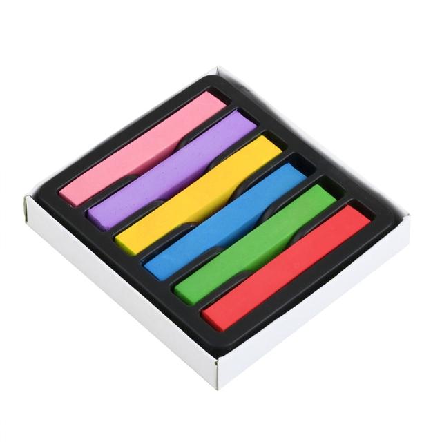 Временные 6 цветов мелки для волос номера - токсичных цвет волос краска для пастели ...