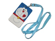 Cartoon Doraemon Silicone Badge/Credit Card/ID Holder with Neck Strap Student Children's Gift Christmas Birthday Gift