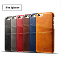 Slim Genuine Leather Back Cover for iPhone cases 4 7 5 5 inch Protective Card Holder