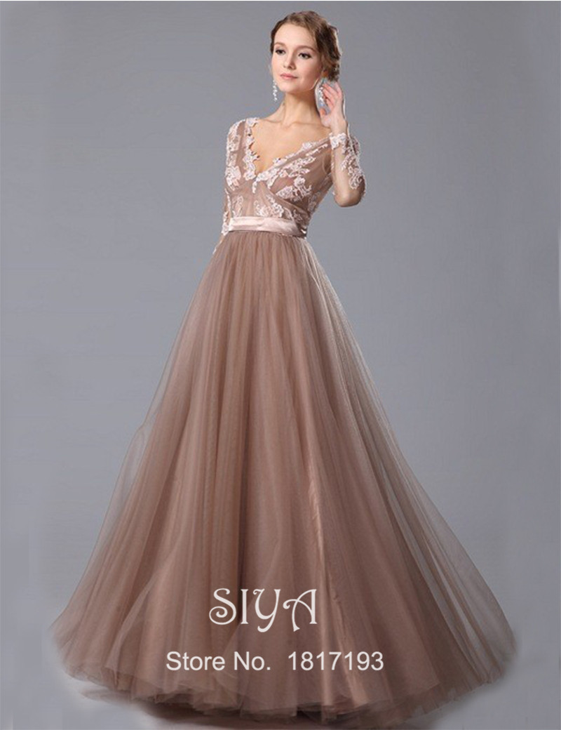 Online Get Cheap Long Brown Evening Dress -Aliexpress.com ...