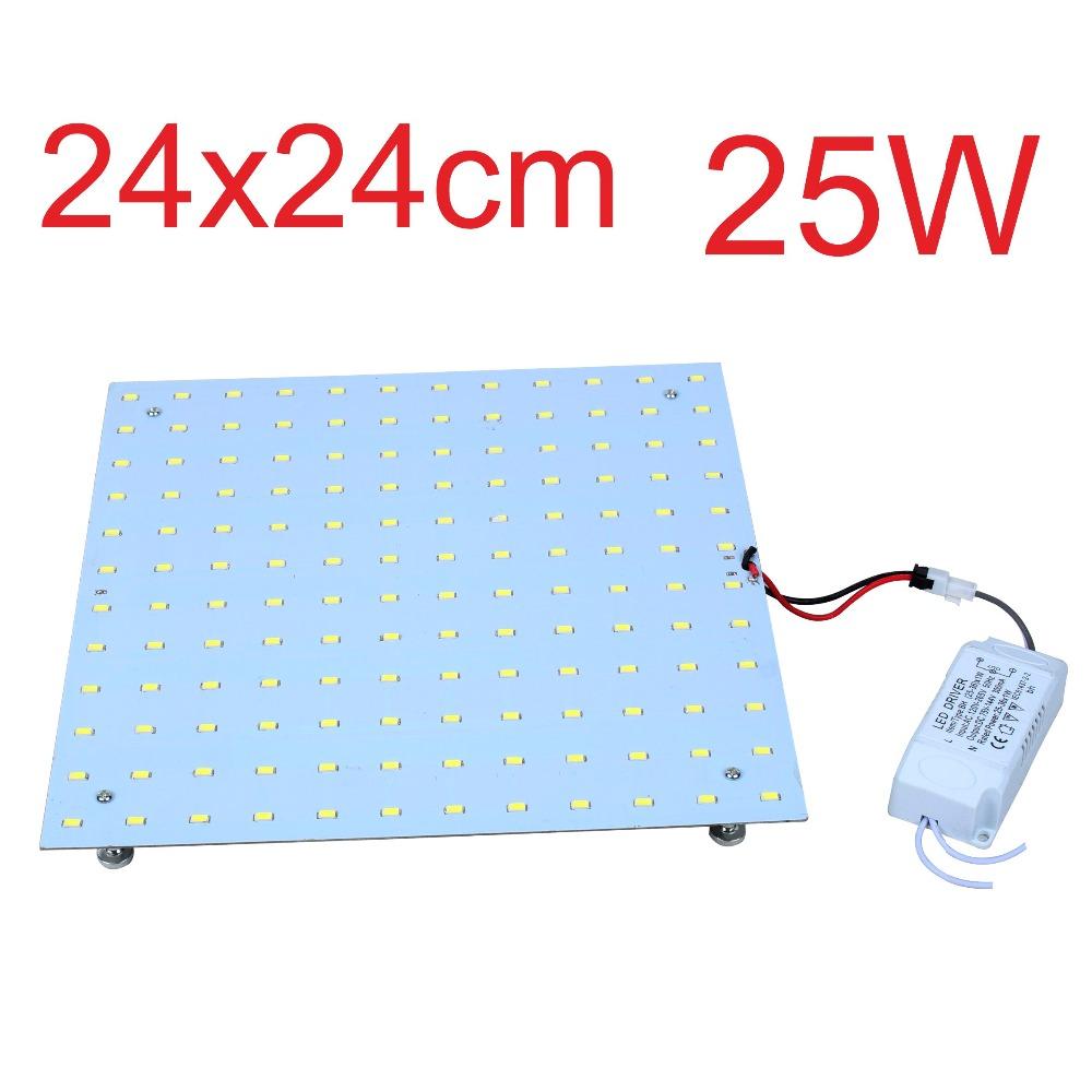 4PCS 25W Retrofit LED Ceiling Lights Aluminum Board Square LED Disc Plate Lamps Replacement 2D CFL Lights Bulb(China (Mainland))
