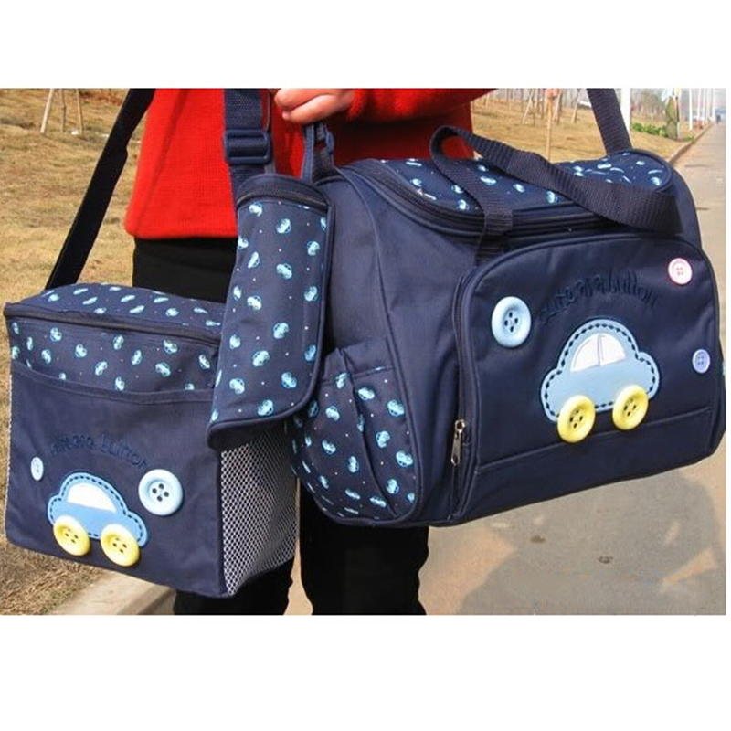 SCYL 4PCS/Set High Quality Tote Baby Shoulder Diaper Bags Durable Nappy Bag Mummy Mother Baby Bag(China (Mainland))