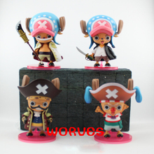 One Piece Choba Chopper 4 pcs/set 12 CM PVC Action Figure Toys Cartoon Doll Model Collection toy toy