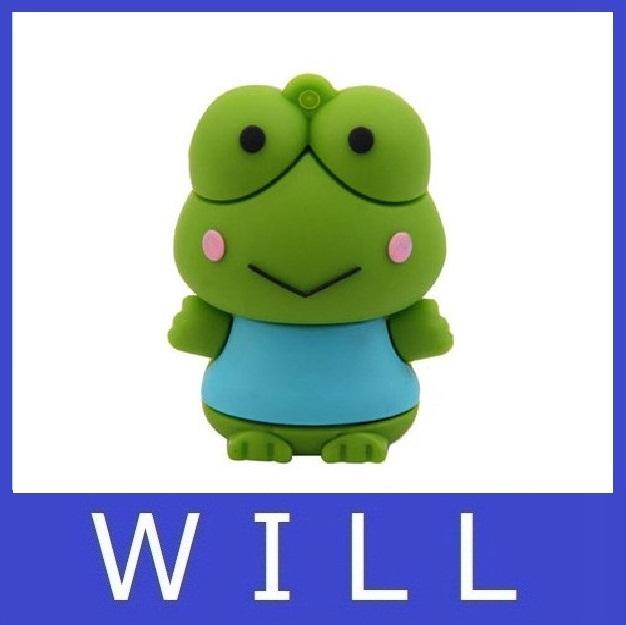 U disk 2GB 4GB 8GB 16GB 32GB 64GB Cute frog Keroppi lovely creative personality usb flash drive memory stick pen drive pendrive(China (Mainland))