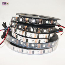 5m/roll DC5V WS2801 Dream Color 12mm 5050 RGB LED Strip Addressable 32LED/M Arduino development ambilight TV white or black PCB(China (Mainland))