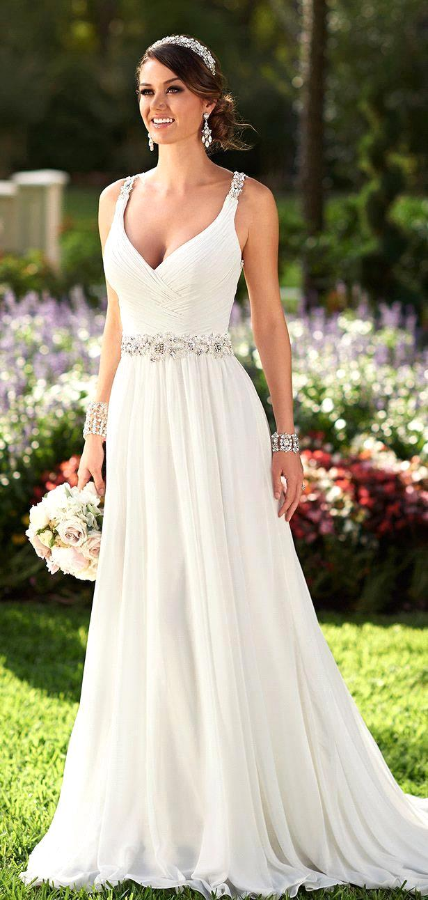 Inexpensive Chic Wedding Dresses : Summer style beach wedding dress boho cheap vestidos de novia