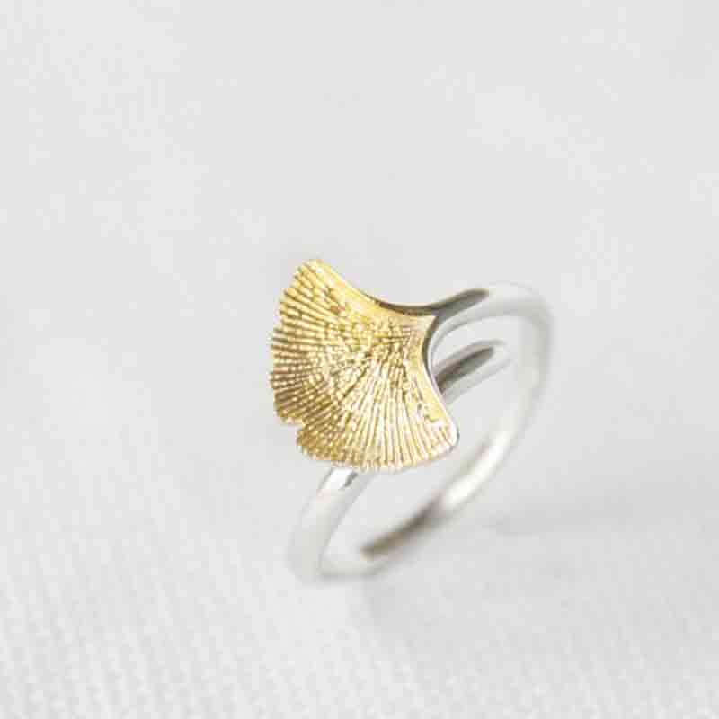 New Arrivals 925 Sterling Silver Rings For Women Girl Jewelry Ginkgo Flowers Rings Adjustable Rings(China (Mainland))
