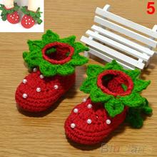 Bluelans Fashion Cute Newborn Baby Infant Girls Crochet Knit Socks Crib Shoes 0-12 Months First Walkers(China (Mainland))
