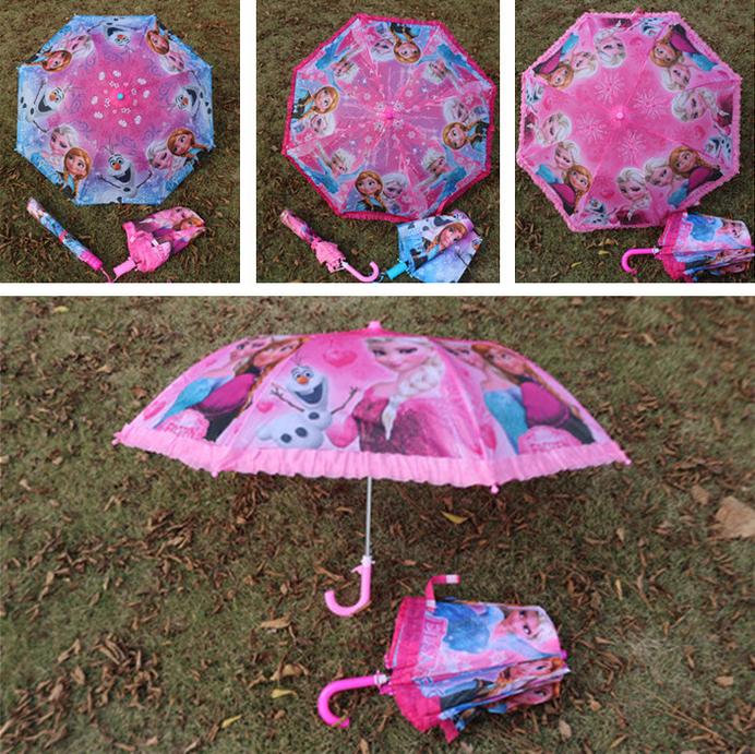 New Cute Kids Umbrella Fold Umbrella Children Kids Umbrella Girls Novelty Gifts lace Automatic umbrella Elsa Anna -J GYH(China (Mainland))
