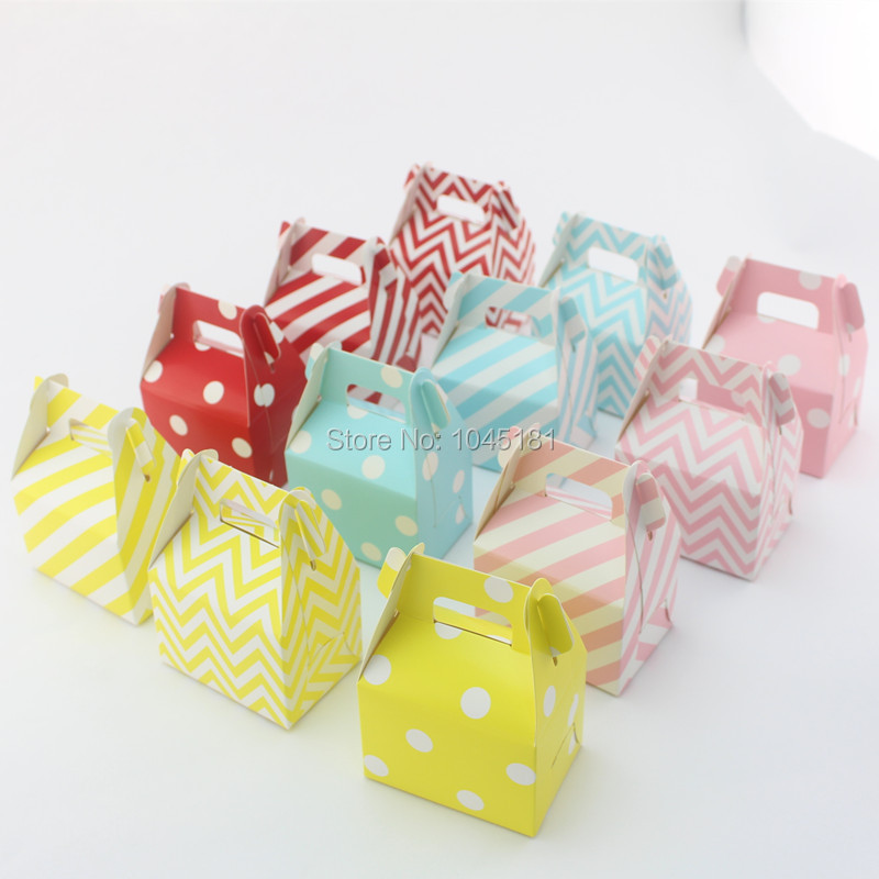 2700pcs Paper Party Favor Boxes Christmas New Year Party Wedding Snack Gift Candy Food Boxes Chevron Striped Dot Style(China (Mainland))