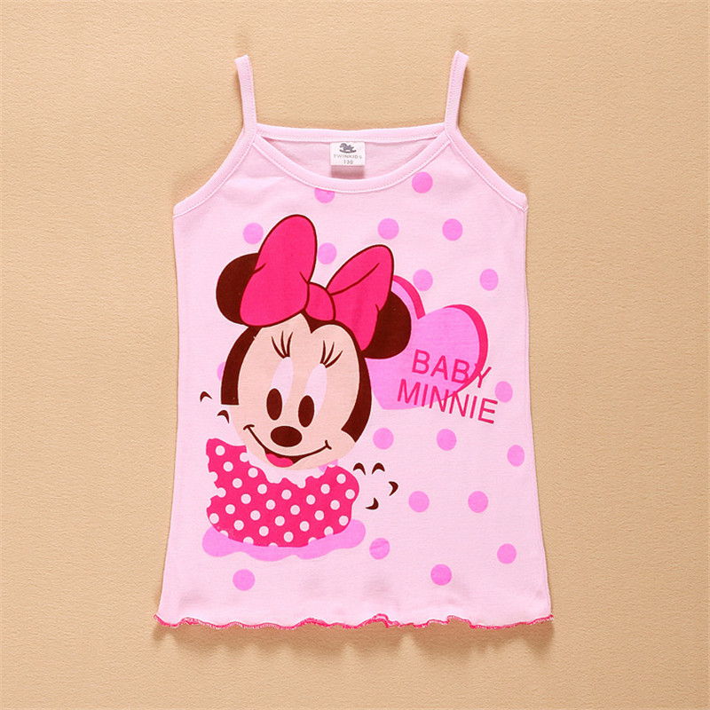 In stock Girls Tanks Baby Girl Summer Wear Tops Cotton Sleeveless Cool Good Quality fTST0003