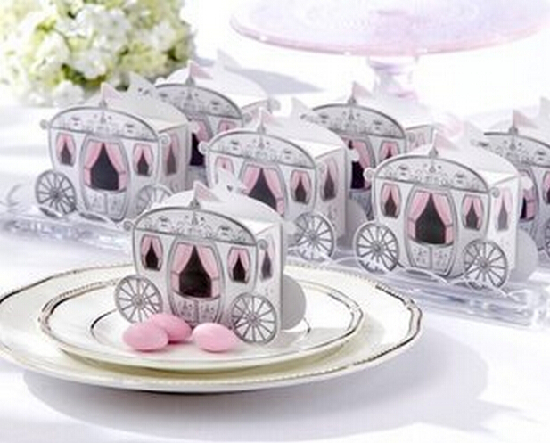Fashion 200pcs Cinderella Pumpkin carriage Wedding Favor Candy Boxes Wedding Package Gift Box baby shower favor Party Supplies(China (Mainland))