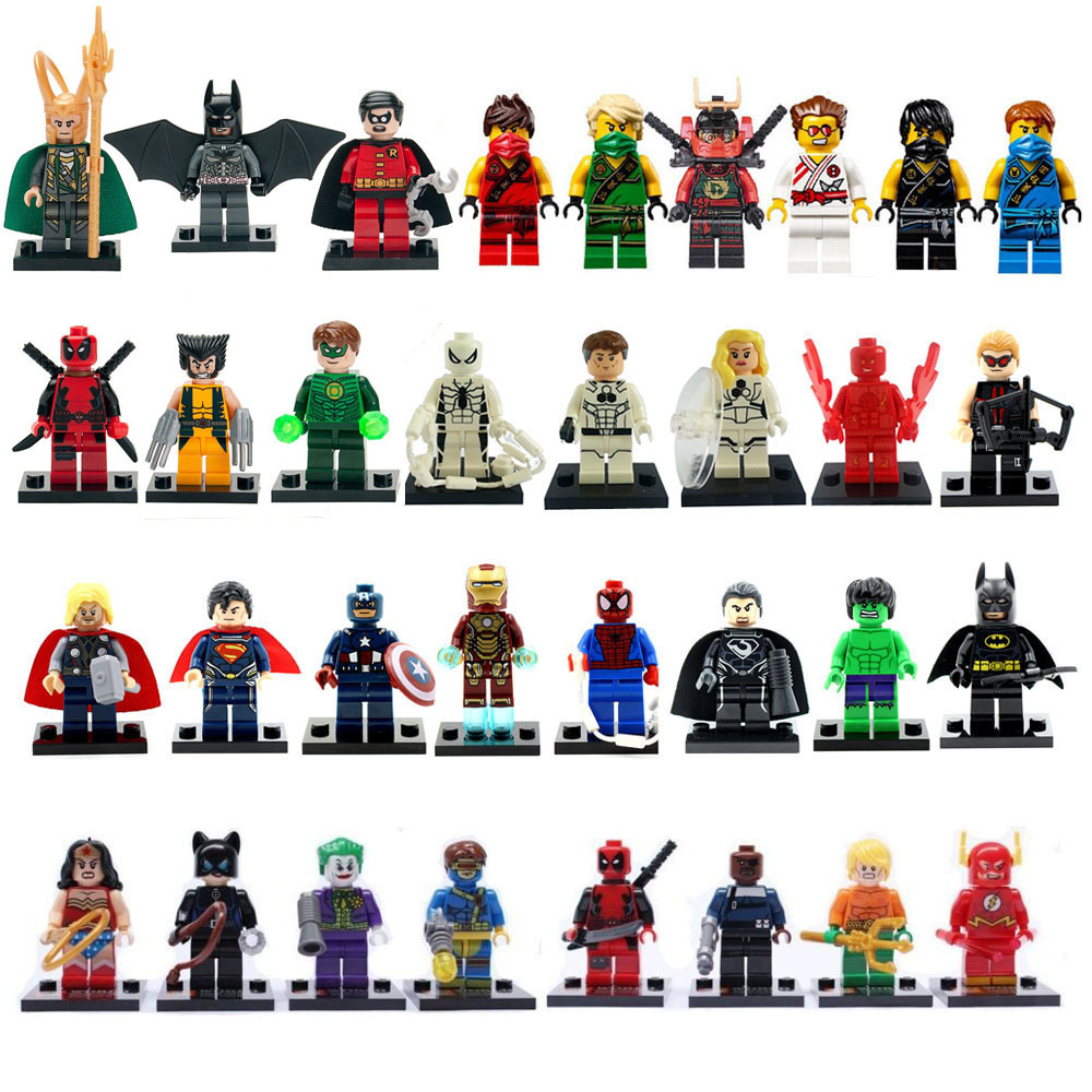 Super Heroes Toys Mini figures 3 Building Blocks Sets Classic DIY Bricks Action Children - askformore store