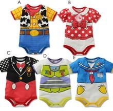 New Born baby boy rompers boy costume Newborn summer roupas de bebe menino Short sleeves Baby