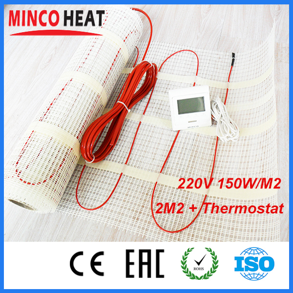 8m2 150W CE Certificated Electric Radiant Heated Floor Mat<br><br>Aliexpress
