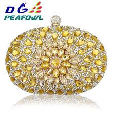 Роскошная сумка-клатч на цепочке, женская свадебная сумка с бриллиантами, кристаллами, цветами, синий и красный цвета, дизайнерский кошелек,...(China)