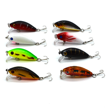 5cm/1.97in 3.6g/0.17oz Striped Bass Floating Minnow Lure Artificial Fish Lures Hard Bait Swim Fishing Tackle Samll Crankbait