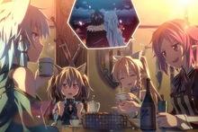 Giclee Canvas Prints Stretched Framed Fine Art Artwork For Wall Decor Asada Shino Gun Gale Online Shinozaki Rika Anime Girls