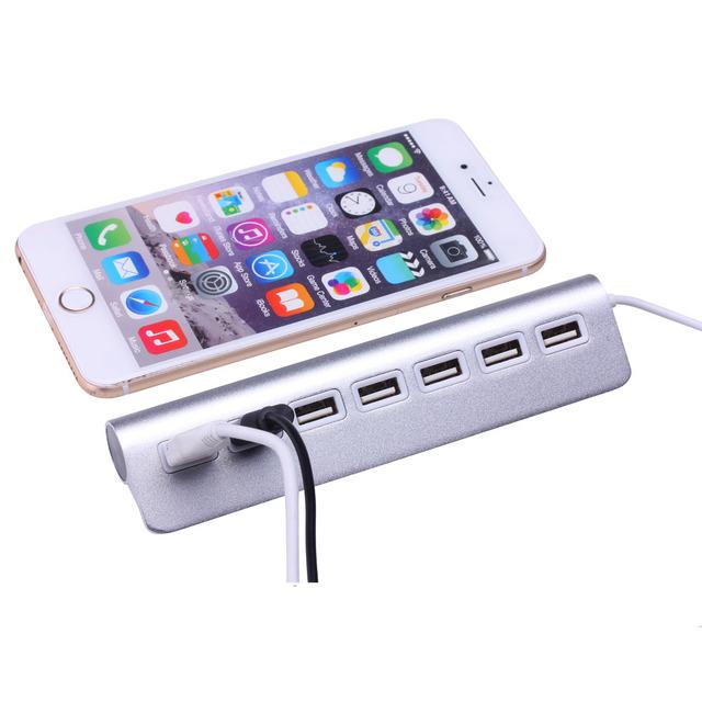 7 Ports USB 2.0 Hub For Apple Mac PC Laptop Computer Peripherals Accessories
