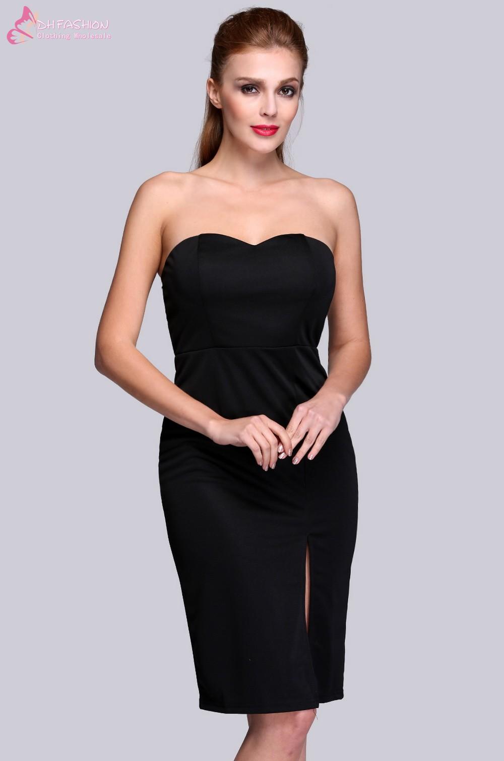 New summer Elegant Ladies Bodycon Dresses Yellow Black ...