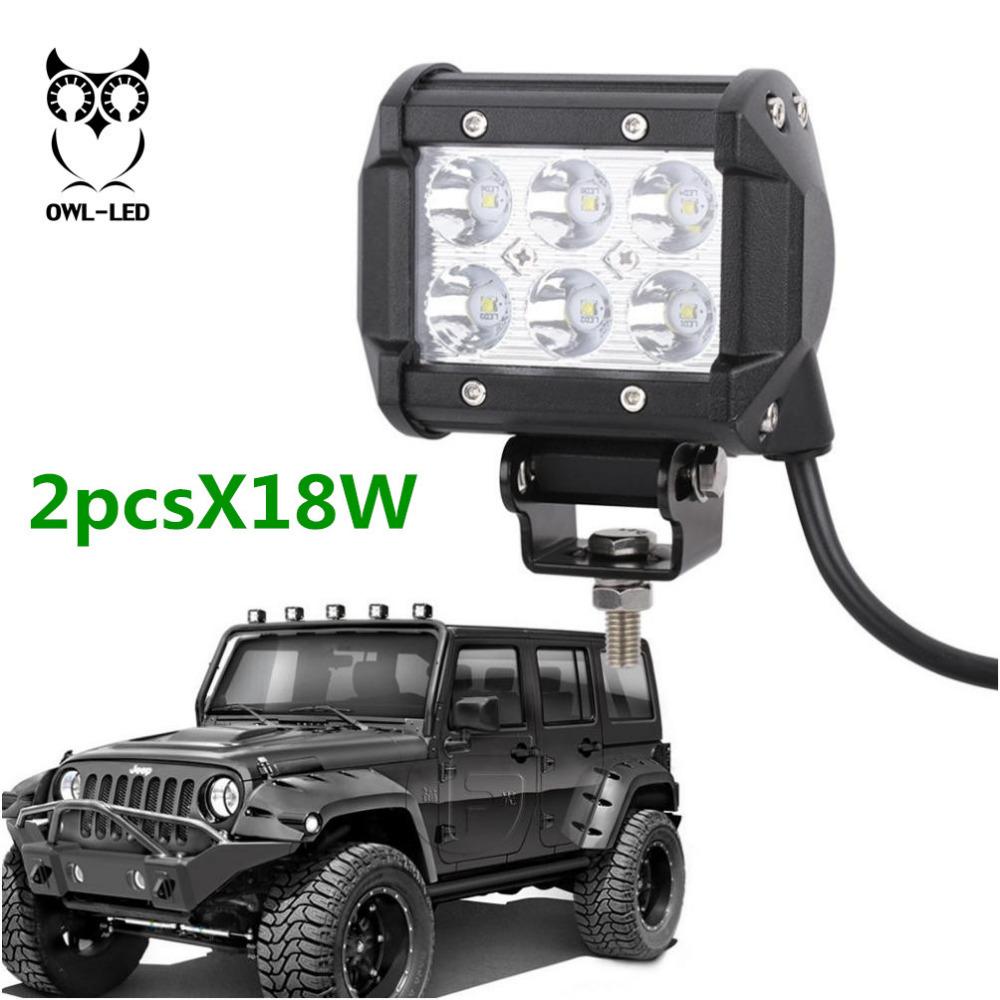 18W LED Fog Driving Work Light Lamp for Truck Roof Bar Off-Road 4X4 UTV(China (Mainland))