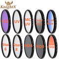 KnightX Star ND4 ND8 FLD CPL MC UV lens color filter for Sony Canon Nikon D3000
