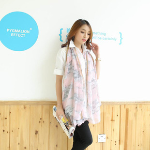 10pcs/lot 2015 new long design Chiffon silk scarf female summer air conditioning cape Pashmina in winter all-match scarf CY008(China (Mainland))