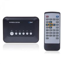 Multi Media Player Center USB TV HD 720P Music Movie MP3 RMVB AVI MPEG4+Remote(China (Mainland))