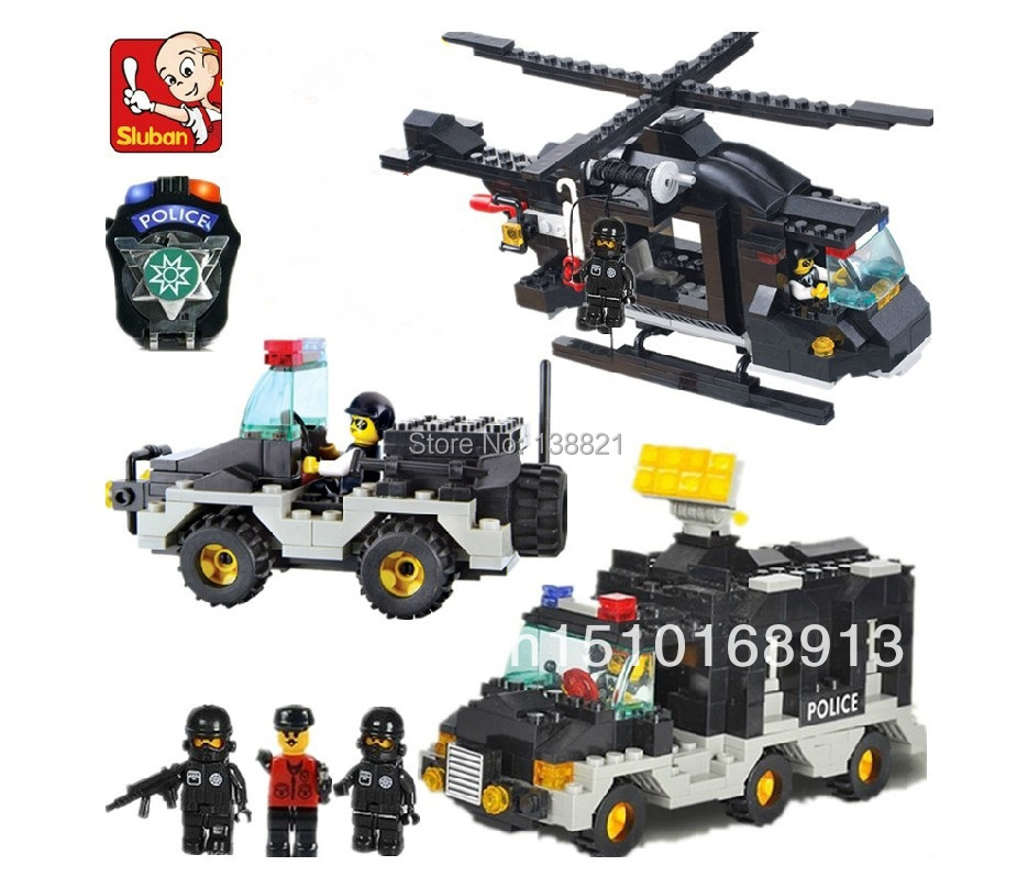 DIY Educational Toys children Sluban Building Blocks Swat police self-locking bricks Compatible Lego - zhichao shaw's store