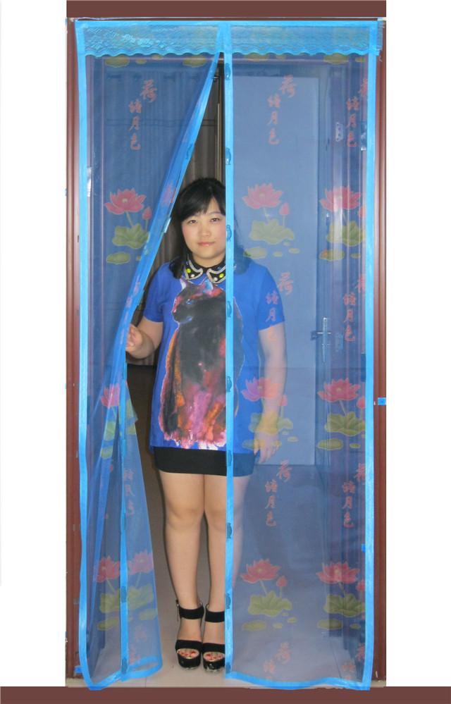 Magnetic soft screen door curtain window mesh magnetic stripe magnets mosquito curtain window(China (Mainland))