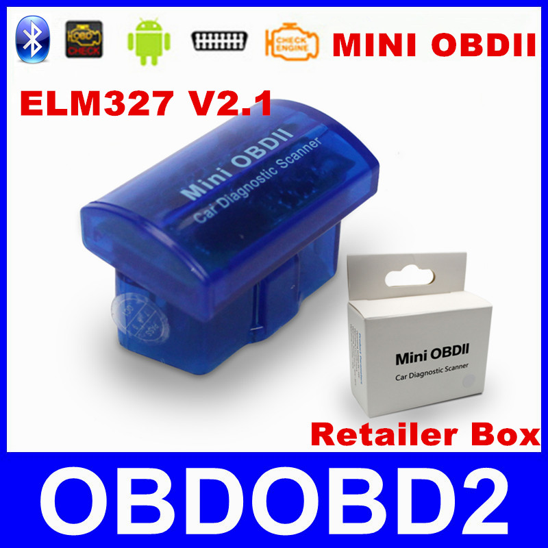 Latest Version V2.1 Super MINI ELM327 Bluetooth OBD/OBD2 Wireless ELM 327 Multi-Language 12Kinds Works ON Android Torque/PC(China (Mainland))