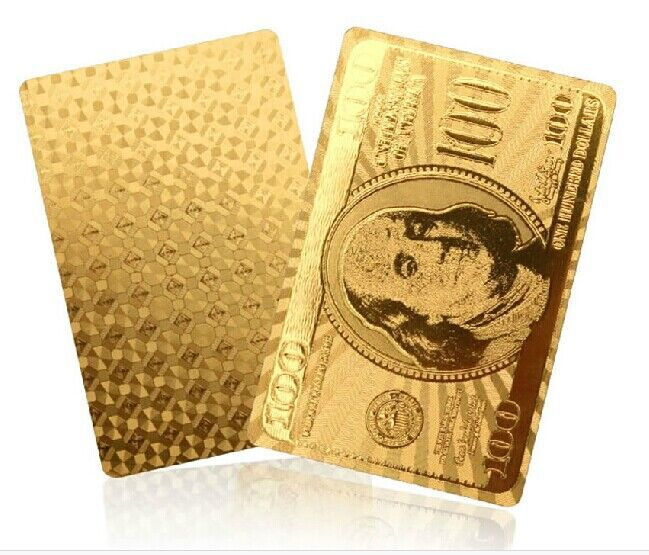 Gold/Silver 24k Karat Golden/Silver Foil plated waterproof paper PVC Playing Cards poker game Dollor/Euro/Normal for Choice(China (Mainland))