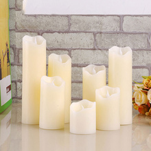 Fameless uneven edge electrical paraffin wax led candle