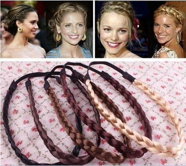 New Fashion Popular Braid Wig Hairbands Headbands Women Hair Maker Hair Accessories(China (Mainland))