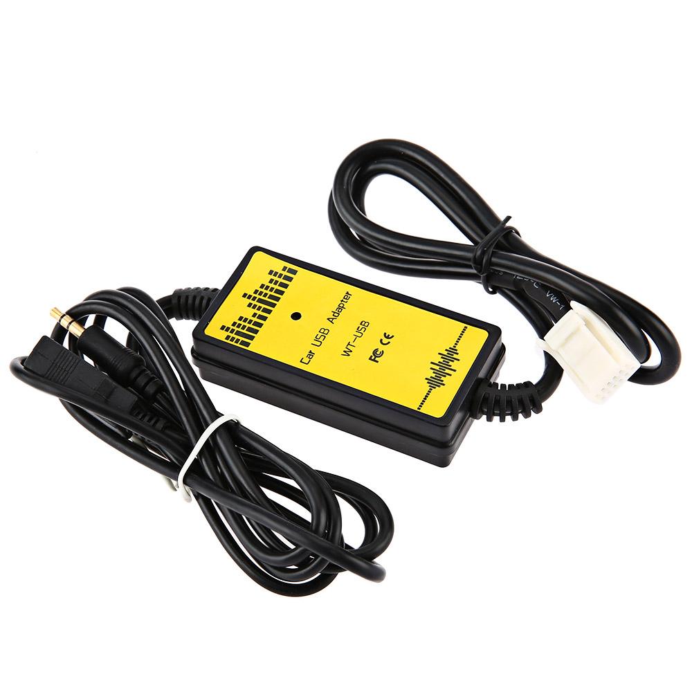 WT USB TYT01 Car CD Adapter MP3 Audio Interface AUX USB