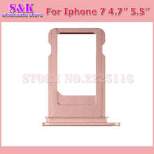 Buy 5 pcs /lot Repair parts iphone 7 plus 7g 7p 4.7 5.5 SIM Card Tray Holder Slot rose gold gray silver white for $7.61 in AliExpress store