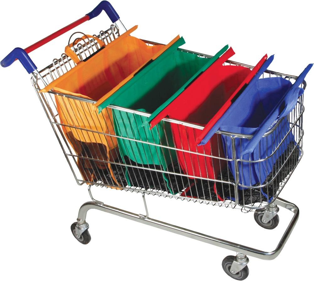 reusable clip to cart organizer supermarket bag,supermarket reusable shopping cart organizer bag(China (Mainland))