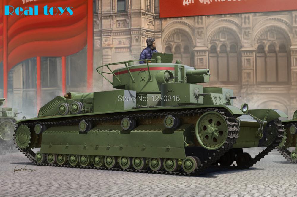 Hobby Boss MODEL 1/35 SCALE military models #83851 Soviet T-28 Medium Tank (Early) plastic model kit(China (Mainland))