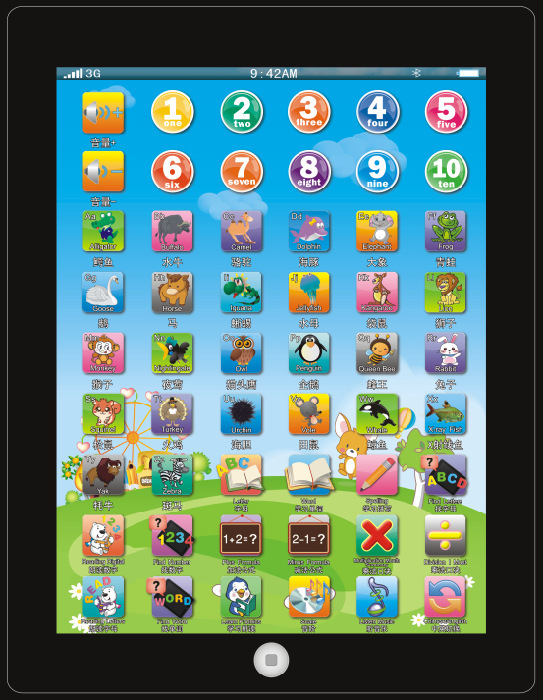 Hot sale Russian language Y-pad children learning machine, Russian computer toy for kids(China (Mainland))