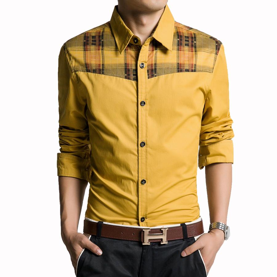где купить Мужская повседневная рубашка KK 100% Camisa Masculina KK-Shirt-011 по лучшей цене