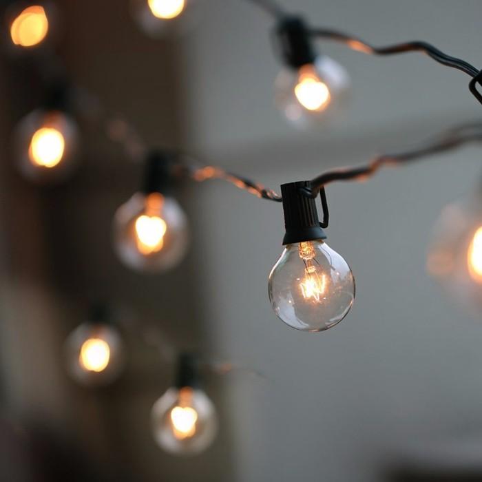 25FT G40 LED Globe String Lights 25 Bulbs Waterproof Garden Party Decor US Plug