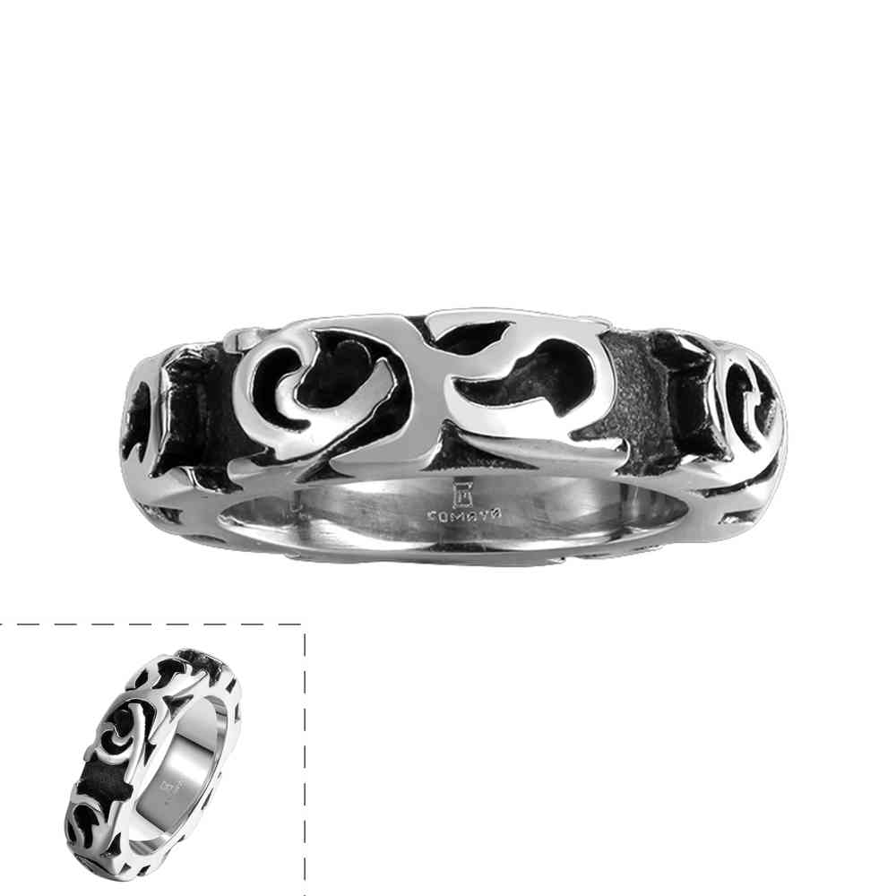 Free Shipping floating charms stainless steel rings for women Engraved texture anel masculino jewelry display MAYAR111(China (Mainland))