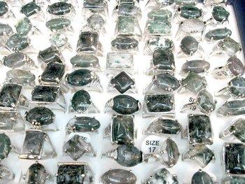 latest fashion ring Lots 50pcs Charming plants Natural stone  Wedding rings Jewelry ring Fashion Rings,